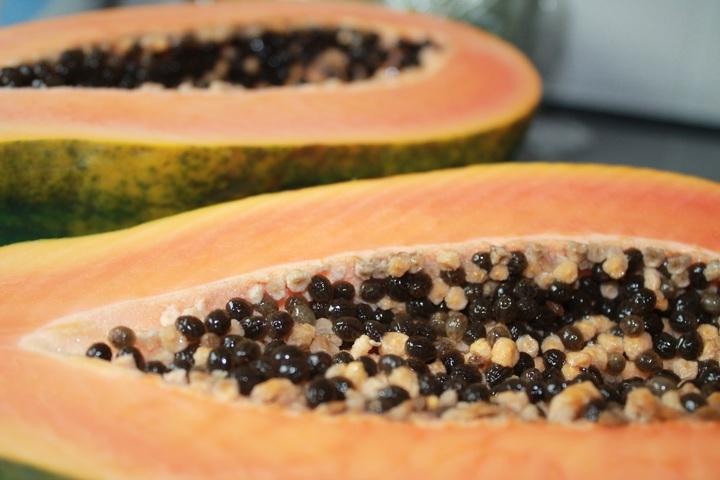 Ansiktsmask, oljig hy papaya