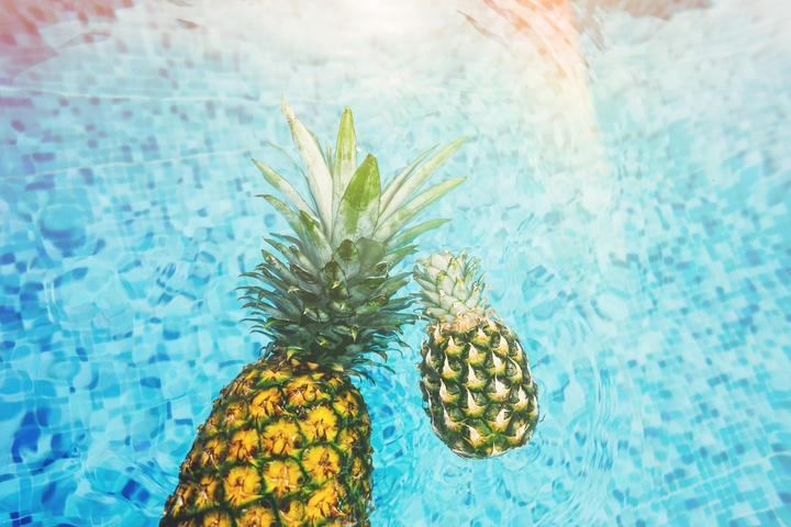 Ansiktsmask, rynkor ananas