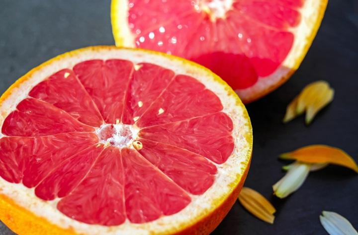 Ansiktsmask, torr hy grapefrukt