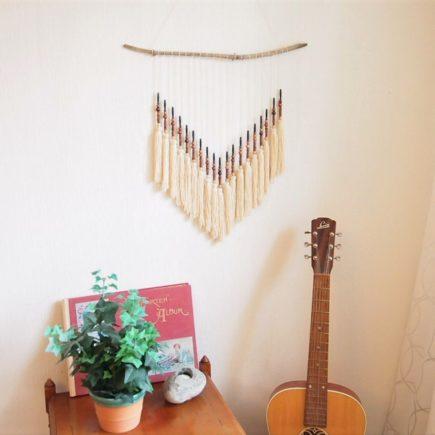Återbruk, bohemisk väggdekoration halsband
