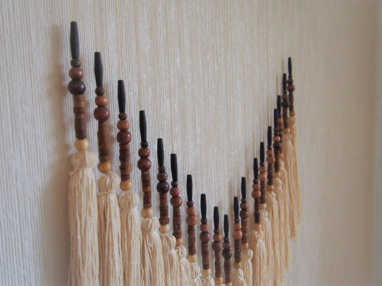 Återbruk, bohemisk väggdekoration pinne