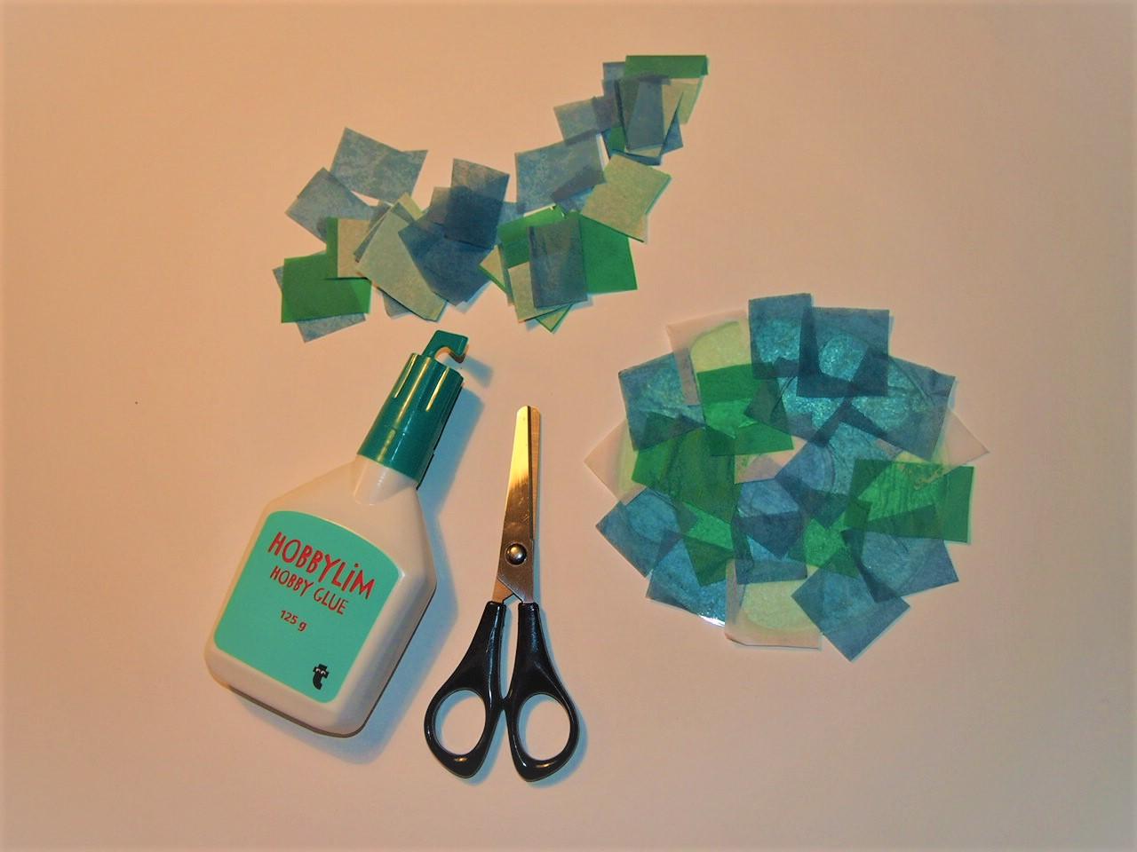 Pyssel, klippa cd-skiva fisk