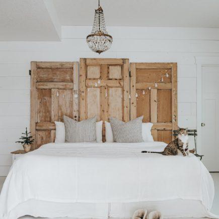 sänggavel av dörr, diy